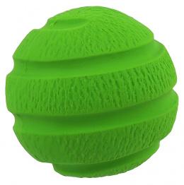 Hračka Dog Fantasy Latex Míč vroubkovaný zelená zvuk 7,5cm