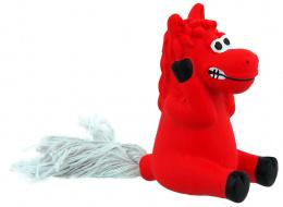 Hračka Dog Fantasy Latex Mini Kůň červená se zvukem 7cm