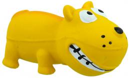 Hračka Dog Fantasy Latex Mini Pes žlutá se zvukem 9cm