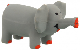 Hračka Dog Fantasy Latex Slon šedá se zvukem 10cm