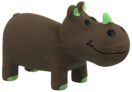 Hračka Dog Fantasy Latex Nosorožec hnědá se zvukem 10cm