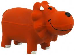 Hračka Dog Fantasy Latex Lev oranžová se zvukem 10cm