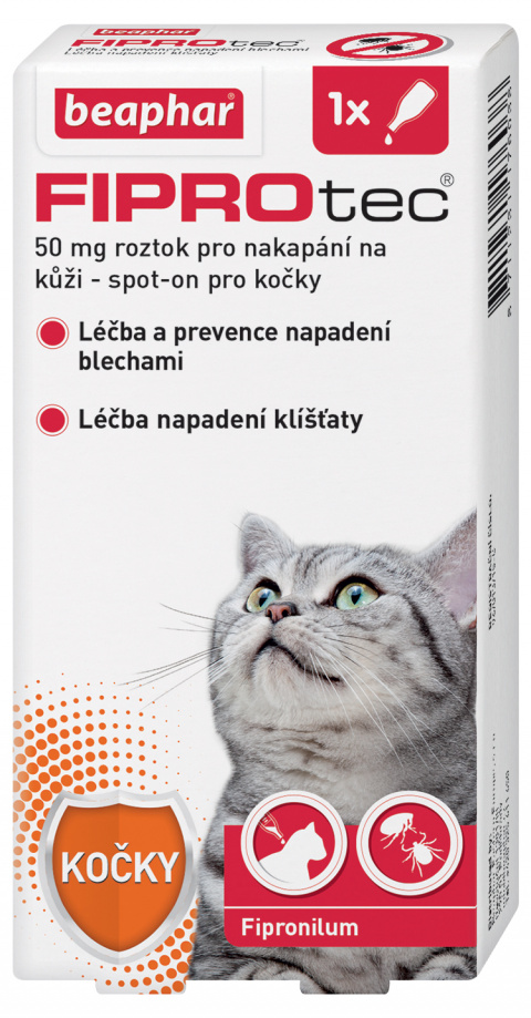 Beaphar Fiprotec spot on pro kočky nad 1 kg + FIPROtec akce 1+1 title=