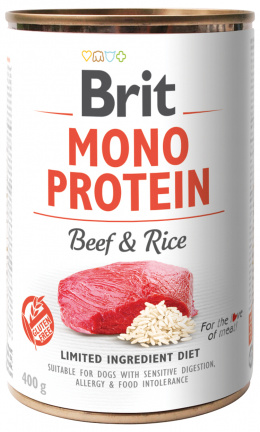 Konzerva Brit Monoprotein Beef & Brown Rice 400g