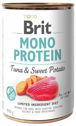 Konzerva Brit Monoprotein Tuna & Sweet Potato 400g