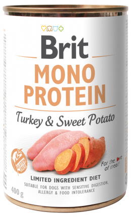 Konzerva Brit Monoprotein Turkey & Sweet Potato 400g