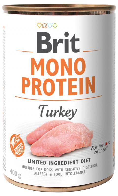 Konzerva Brit Monoprotein Turkey 400g title=