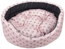 Pelech Dog Fantasy oval 48x40x15cm piktogram růžový