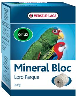 Minerální blok Loro Parque  lisovaný grit s korály velké papoušky 400g