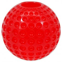 Hračka Dog Fantasy STRONG míček guma s důlky červený 6,3cm