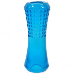 Hračka Dog Fantasy STRONG trubka s důlky modrá 20cm
