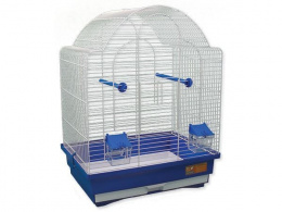 Klec BIRD JEWEL K9 bílá + modrá