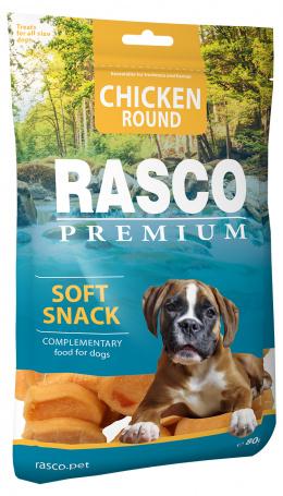 Pochoutka Rasco Premium kolečka z kuřecího masa 80g