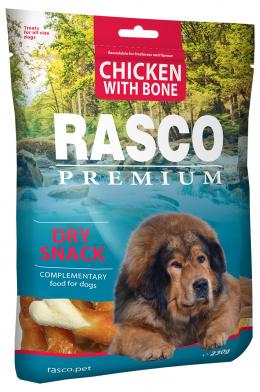 Pochoutka Rasco Premium kosti obalené kuřecím masem 230g