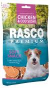 Pochoutka Rasco Premium sushi z tresky a kuřete 80g