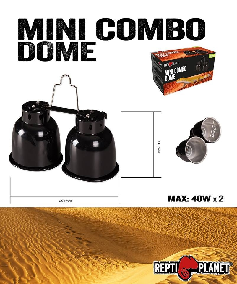 Repti Planet Osvětlení Dual Mini Combo Dome 2x40W