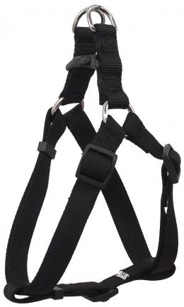 Postroj Dog Fantasy Classic M černý 2x53-77cm