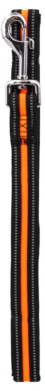 Vodítko Dog Fantasy Neoprene S oranžové 2x120cm