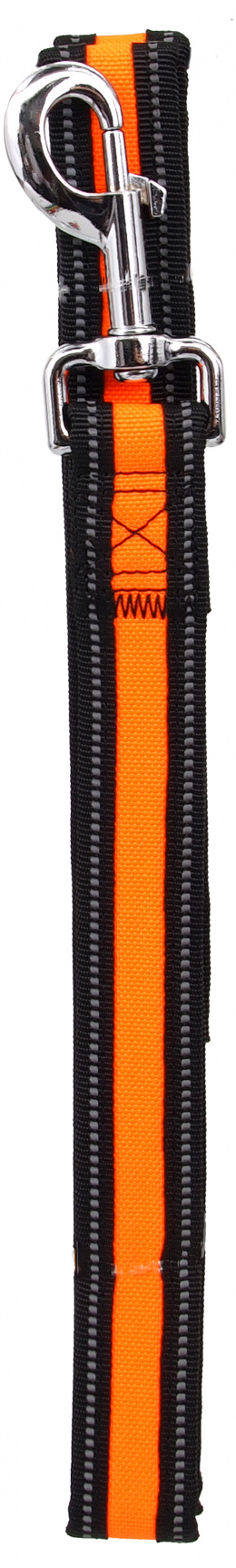 Vodítko Dog Fantasy Neoprene M/L oranžové 2,5x120cm