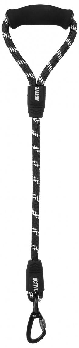Vodítko Active Dog Sport L černé 1,3x50cm