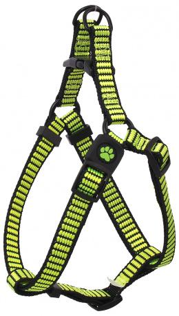 Postroj Active Dog Premium L limetka 2,5x65-99cm