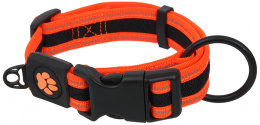 Obojek Active Dog Fluffy L oranžový 3,2x39-59cm
