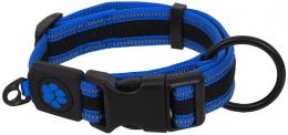 Obojek Active Dog Fluffy XL modrý 3,8x44-70cm