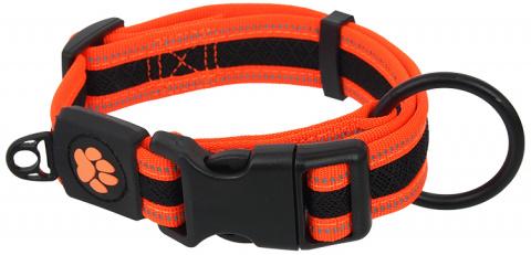 Obojek Active Dog Fluffy XL oranžový 3,8x44-70cm title=