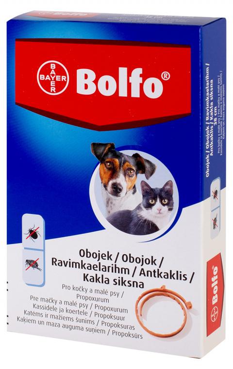 Antiparazitní obojek Bolfo pro psy a kočky 38cm title=