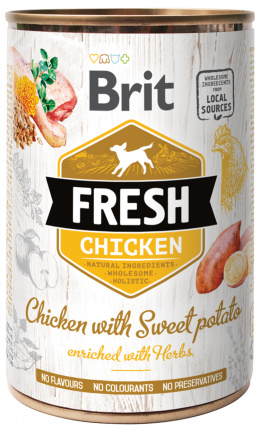 Konzerva Brit Fresh Chicken with Sweet Potato 400g