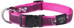 Obojek Fancy Dress Pink Love 2,5x43-70cm
