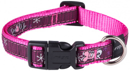 Obojek Fancy Dress Pink Love 1,6x26-40cm