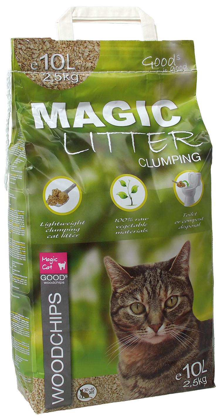 Kočkolit Magic Litter Woodchips 10l