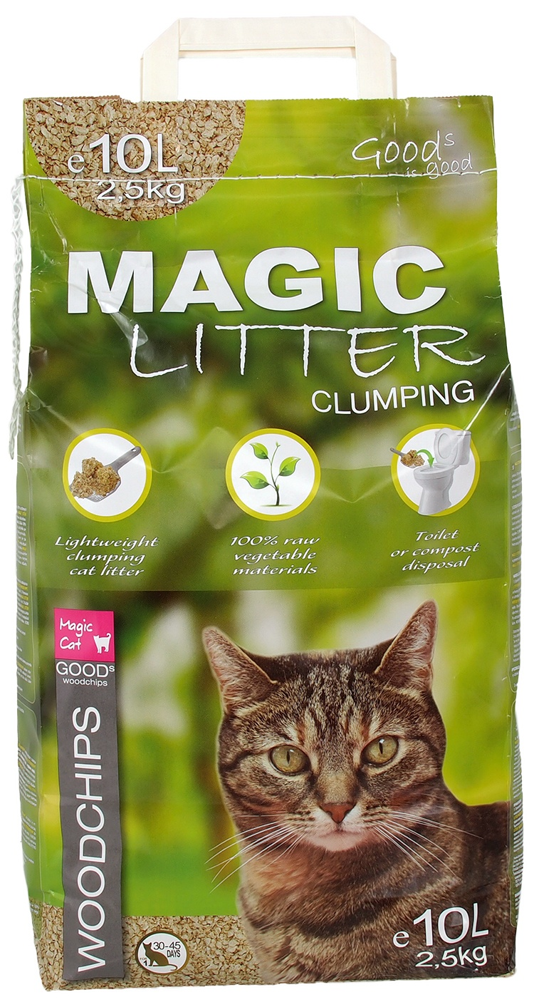 Kočkolit Magic Litter Woodchips 10l