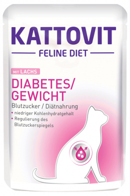 Kapsička Kattovit Diabetes losos 85g