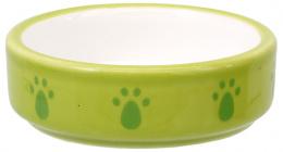 Miska Small Animal keramická pro křečky zelená 8,5x3cm 0,08l