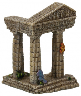 Dekorace akvarijní zřícenina chrámu 7,5x6,8x9,7cm