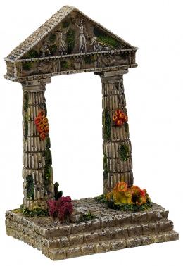 Dekorace akvarijní zřícenina chrámu 9,5x7x15cm