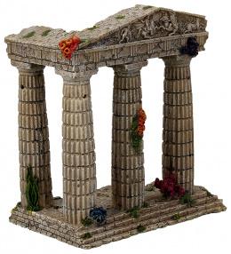 Dekorace akvarijní zřícenina chrámu 15,5x9,5x16,2cm