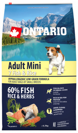 Ontario Adult Mini Fish & Rice 6,5kg