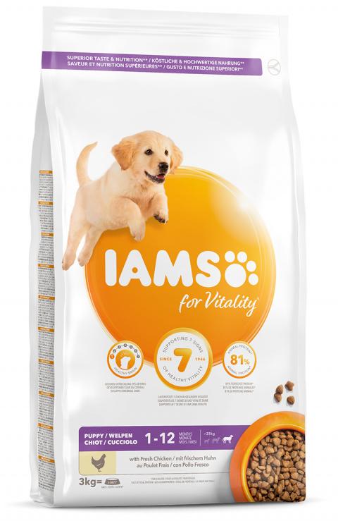 IAMS Dog Puppy Large Chicken 3kg title=
