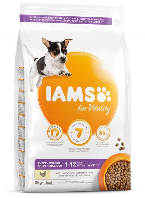 IAMS Dog Puppy Small & Medium Chicken 3kg title=