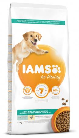 IAMS Dog Adult Weight Control Chicken 12kg + kachní kostky ZDARMA