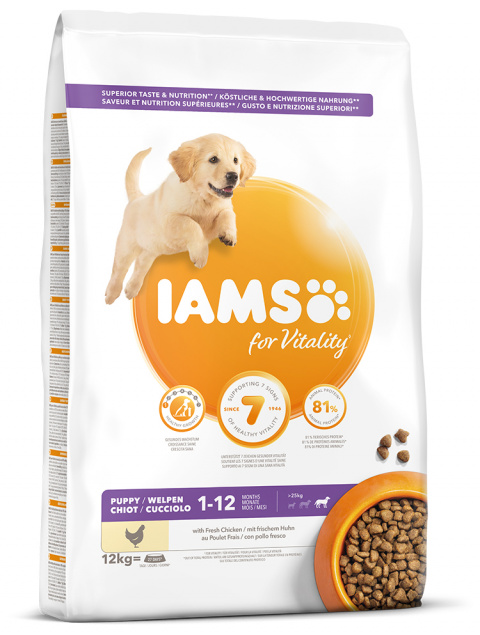 IAMS Dog Puppy Large Chicken 12kg title=