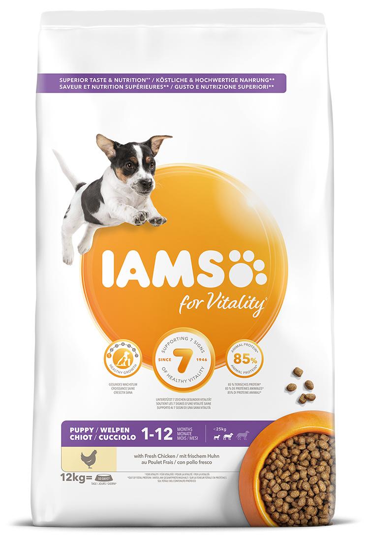 IAMS Dog Puppy Small & Medium Chicken 12kg