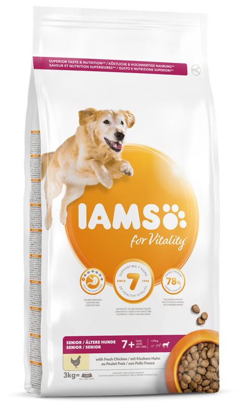 IAMS Dog Senior Large Chicken 3kg title=