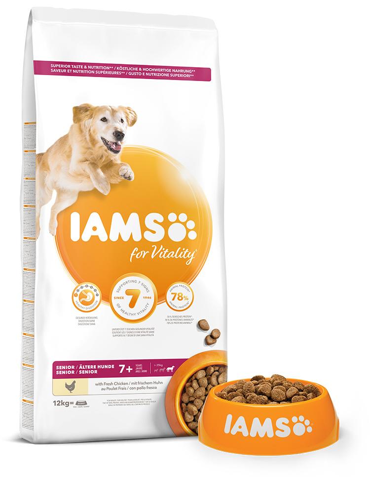 IAMS Dog Senior Large Chicken 12kg