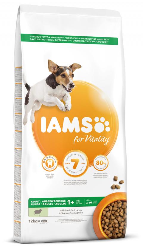 IAMS Dog Adult Small & Medium Lamb 12kg title=