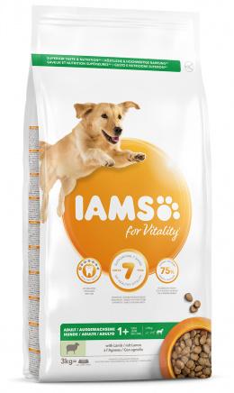 IAMS Dog Adult Large Lamb 3kg + kachní kostky ZDARMA