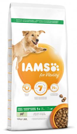 IAMS Dog Adult Large Lamb 12kg + kachní kostky ZDARMA